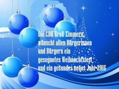 CDU Gemeindeverband Groß-Zimmern - Ein gesegnetes Weihnachtsfest und ...